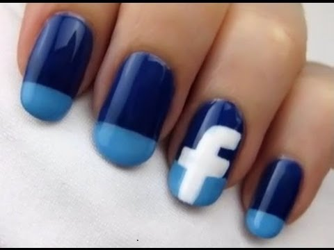 simple and cute facebook nails