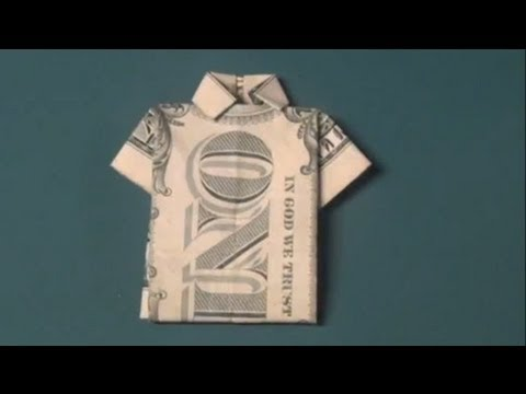 How To Make A Dollar Bill T Shirt Origami Fun Tutorial Shirt