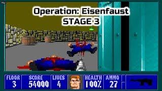 Old Games - Wolfenstein 3D / Episode 2 Stage 3 / PC Gameplay