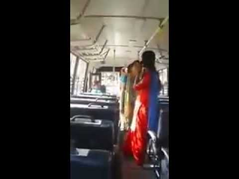 Punjabi Girls Fight In College Bus 2018