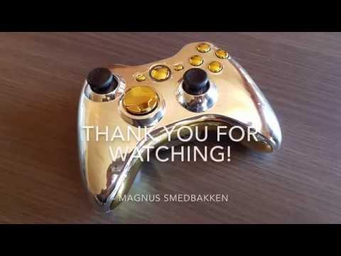 Xbox 360 Controller - Gold, Black & Silver