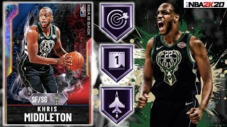 GALAXY OPAL KHRIS MIDDLETON GAMEPLAY! IS HE THE BEST BUDGET CARD IN NBA 2K20 MYTEAM?