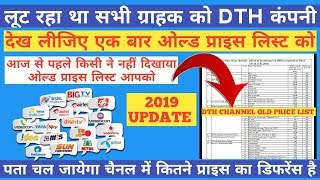 TRAI DTH RULS SELECTED 100 CHANNEL PRICE LIST RS 130/-