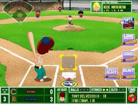 backyard baseball 2001 gameplay youtube