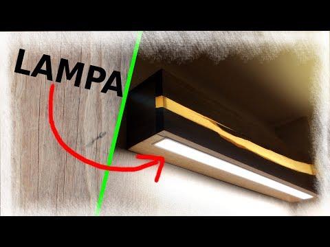 WOOD & EPOXY LED LAMP