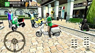 Pizza Delivery Driving Simulator #3 - Bike and Car Game Android gameplay