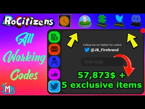 Money Hack On Roblox Rocitizens Roblox Rocitizens All Working Codes 2019 Money Codes 5 Exclusive Items Youtube