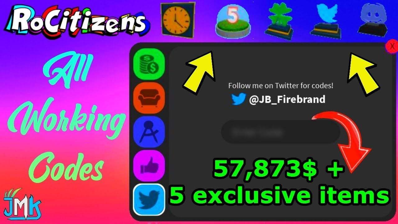 Roblox RoCitizens All Working Codes 2019 *Money Codes + 5 ...