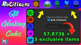 Roblox RoCitizens All Working Codes 2019 *Money Codes + 5 exclusive items*