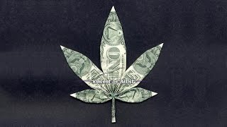 Money Origami MARIJUANA Pot Leaf - Dollar Bill Art
