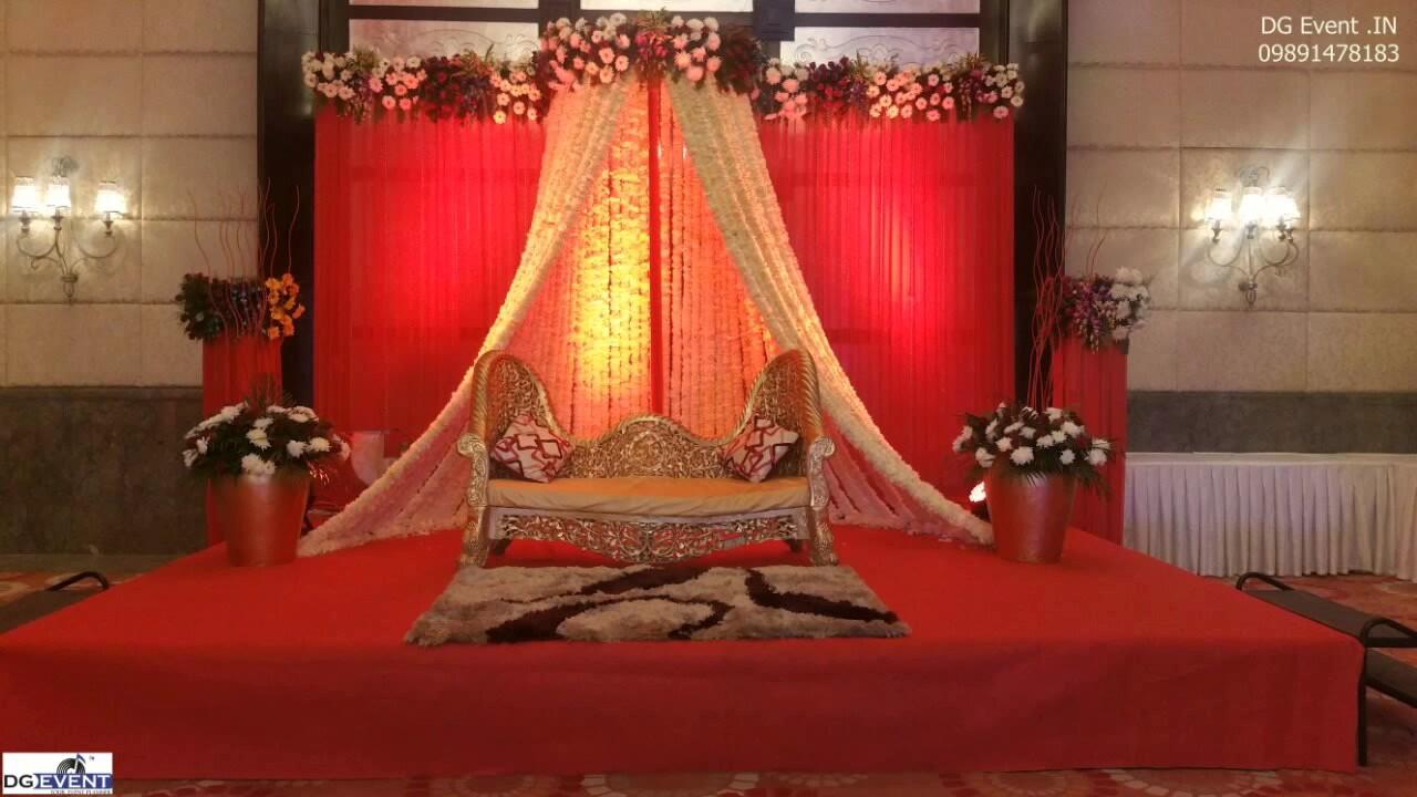 White N Red Roses Flower Decoration Wedding Themed 09891478183 Youtube