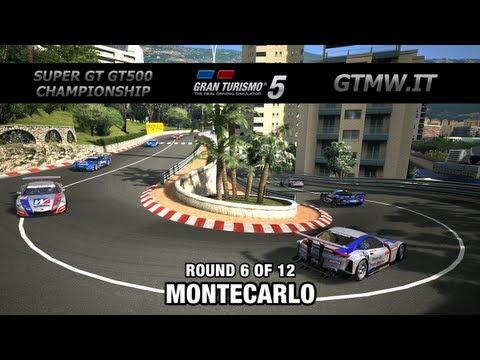 Gran Turismo 5 - GTMW.IT SUPER GT GT500 CHAMPIONSHIP - RACE 6 MONTECARLO - NISSAN GT-R HONDA LEXUS