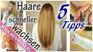 5 Tipps, damit HAARE schneller / besser WACHSEN | Schneiden ohne Länge verlieren, .. | MädchenMontag