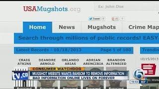 Mugshot website wants money to remove information