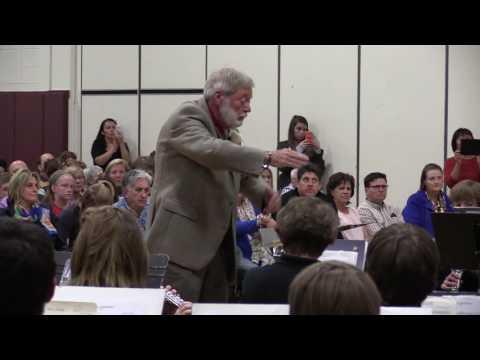 David Kublank directing the Highland School Band May 2016