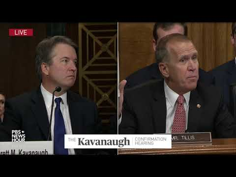 Tillis to Kavanaugh: You're part of a new strategy to stop judicial nominees