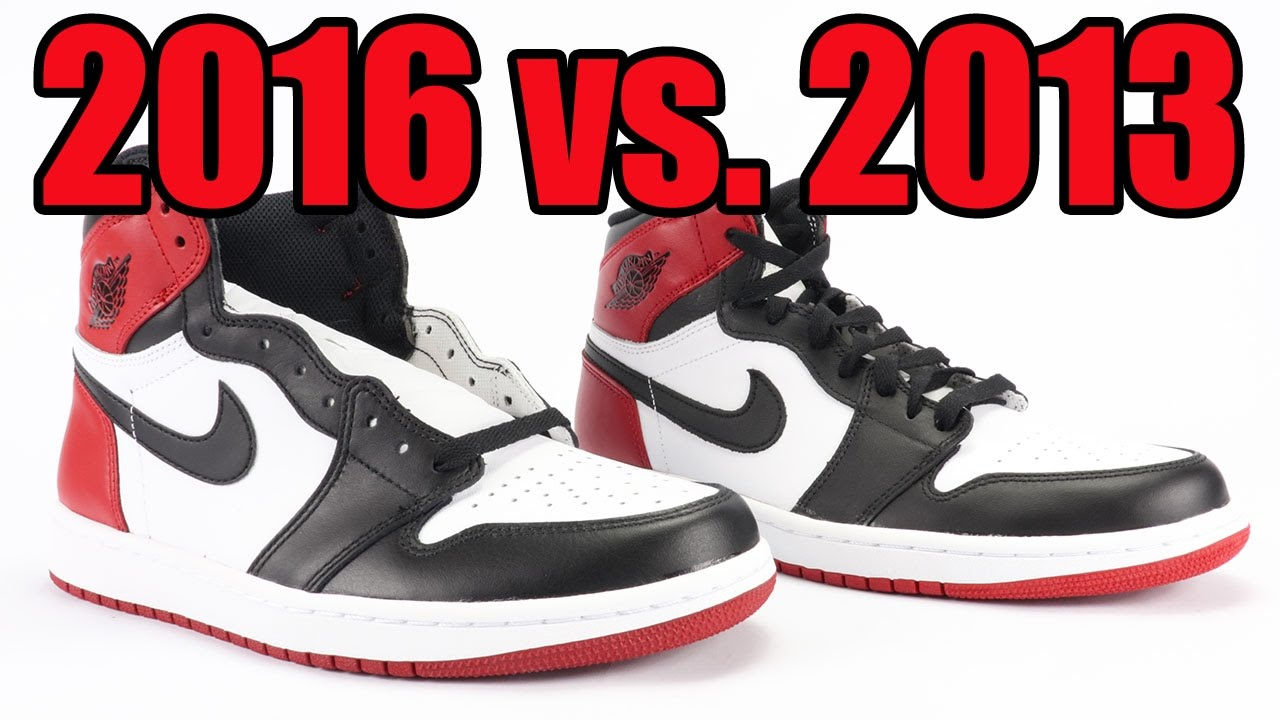 d4a87e3e3d3 2016 vs 2013 Air Jordan 1 Black Toe Comparison - YouTube