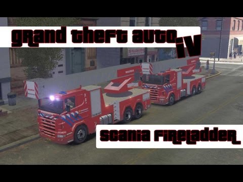 GTA 4 Scania fireLadder (NL)