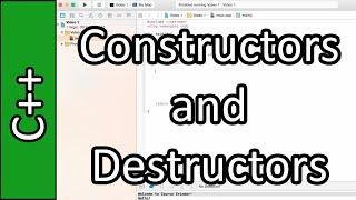 Destructors - C++ Programming Tutorial #34 (PC / Mac 2015)