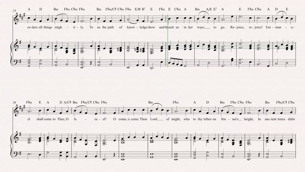 Flugelhorn O Come O Come Emmanuel Christmas Carol Sheet Music Chords Vocals Youtube