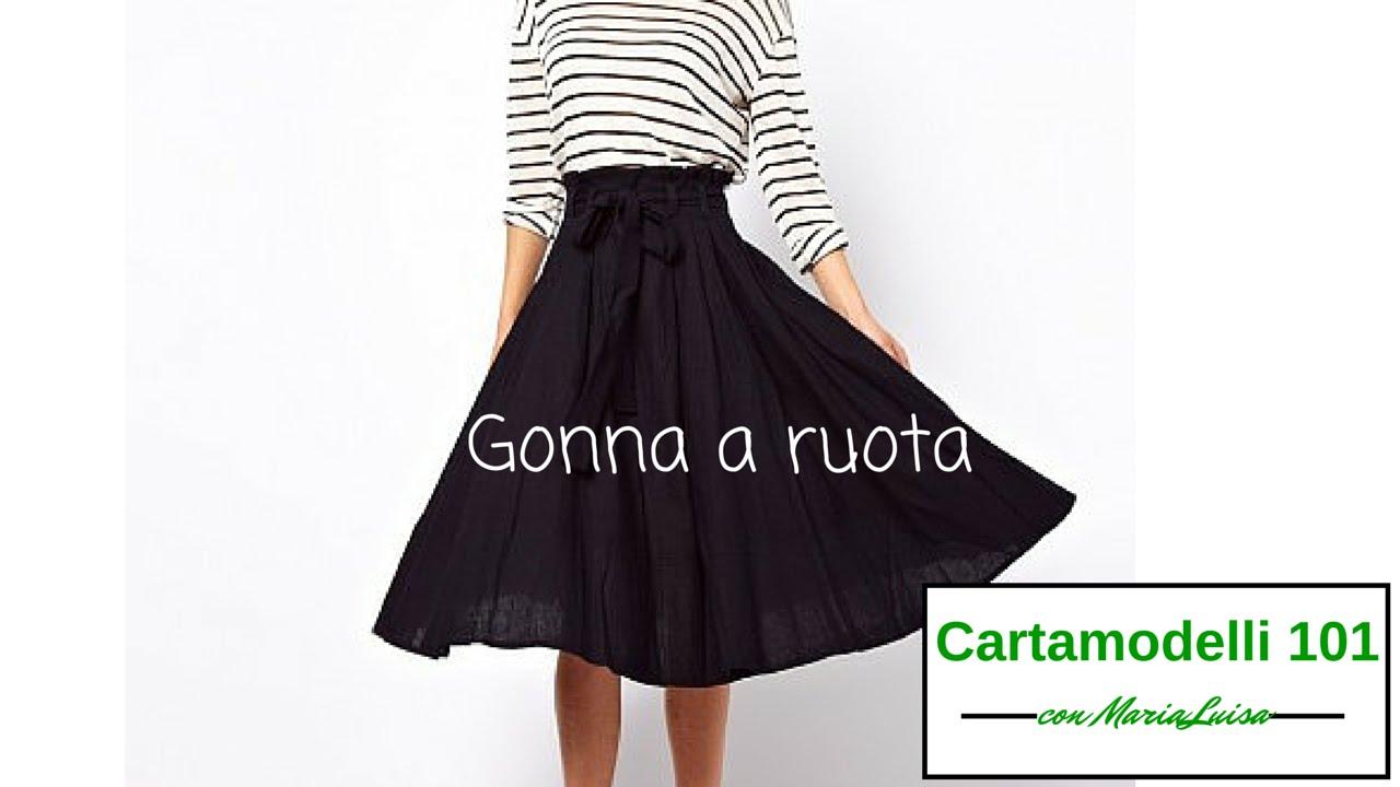 on sale 7df9d 5378e Gonna a ruota - Cartamodelli 101 con Maria Luisa