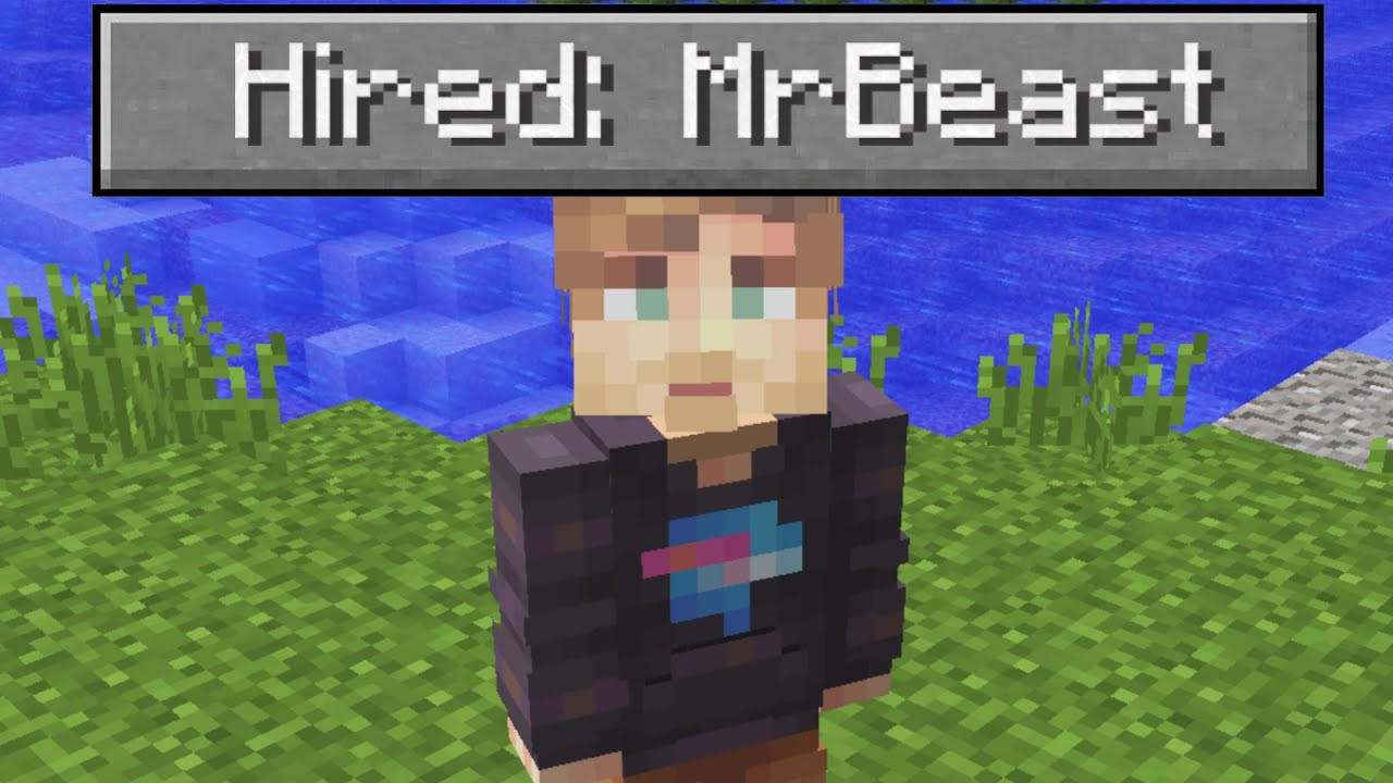 I Hired MrBeast To Play Minecraft With Me For $8