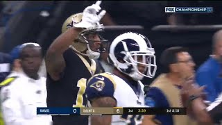 Michael Thomas vs Marcus Peters & Aqib Talib (2018-19 NFC Championship) | WR vs CB Highlights