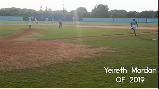 Yeireth Mordan OF 2019 linea por el medio del terreno Vs Pitcher 90MPH