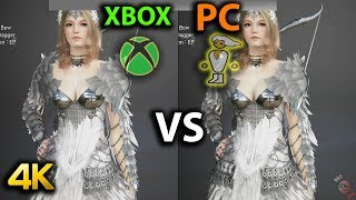 Black Desert Online XBOX ONE X VS PC Compared [4K]