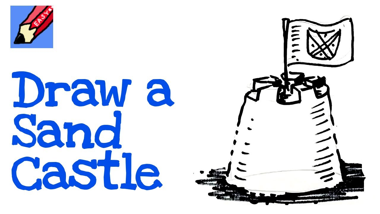 How to draw a sand castle Real Easy Spoken Tutorial - YouTube