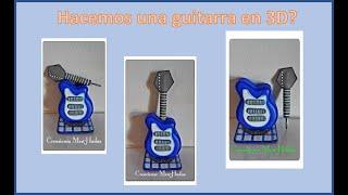 Como hacer una Guitarra eléctrica en 4D en Goma eva