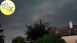 Unwetter Puchheim im Münchner Westen