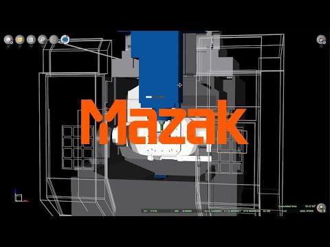 MAZAK VARIAXIS Machine Tool CNC Simulation with NCSIMUL