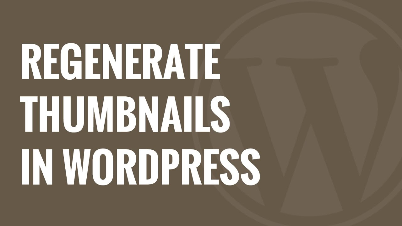 How to Regenerate Thumbnails or New Image Sizes in WordPress