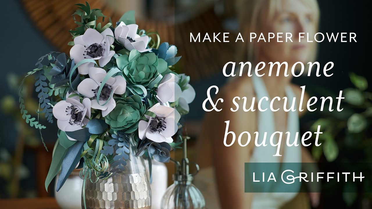Video Tutorial: How to Arrange a Paper Anemone and Succulent Bridal Bouquet