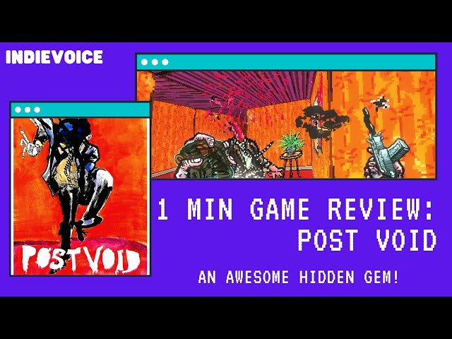 1 min Game Review: Post Void! A Hidden Gem and One of the best!