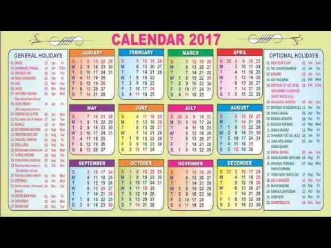 Telangana Govt Holidays Calendar 2017