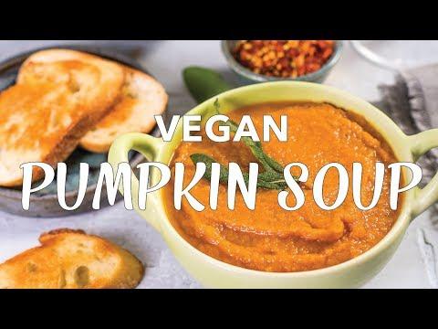 PUMPKIN SAGE SOUP   VEGAN Pumpkin Soup Recipe   Collab with Abbey's Kitchen   The Edgy Veg