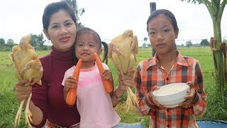 Awesome cooking rice soup with chicken delicious recipe -  healthy food -  village food factory