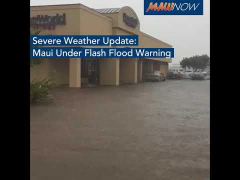 Flooding in Kahului, Maui, Hawaii