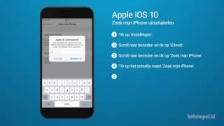 Tips & Tricks - Apple iPhone: Zoek mijn iPhone uitschakelen (iOS 10) screenshot 4