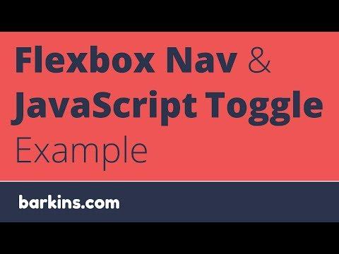 Flexbox Nav and JavaScript Example