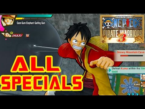 One Piece: Pirate Warriors 3 - All Special Attacks [HD]