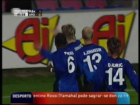 Halmstad BK - 1 x Sporting - 2 de 2005/2006 Uefa