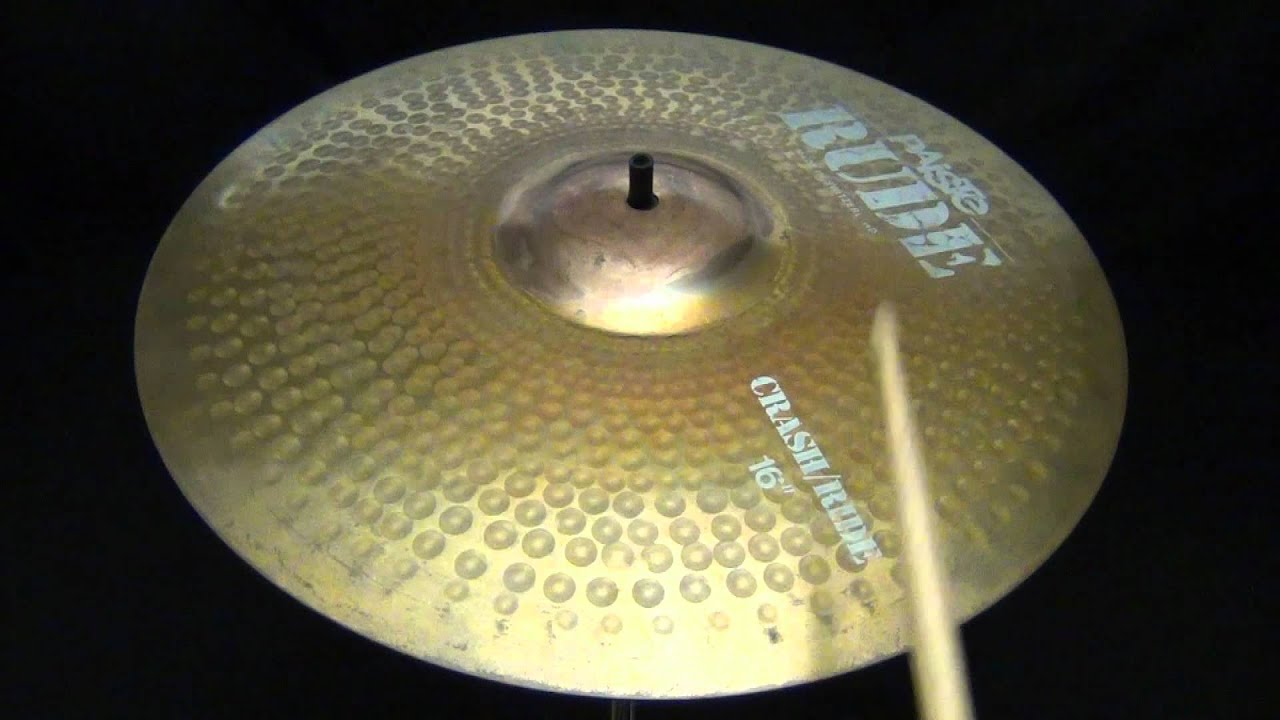 paiste rude 16 crash ride cymbal sound sample video 1320 grams the drum experts youtube. Black Bedroom Furniture Sets. Home Design Ideas