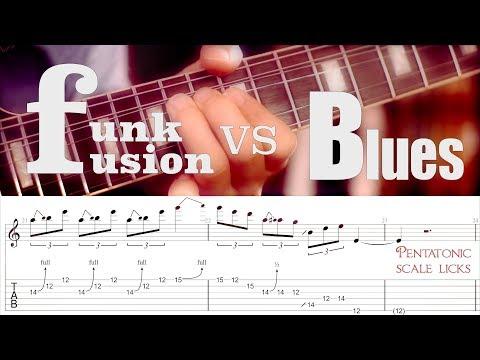 Funk (Fusion) vs Blues - Pentatonic Licks | GUITAR LESSON TV