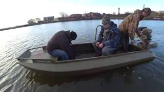 Тест Лодки болотоход  4м Мотор 18.5 лс Lifan
