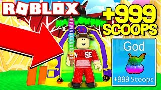 ROBLOX ICE CREAM SIMULATOR! *UNLOCKING GOD FLAVOR*