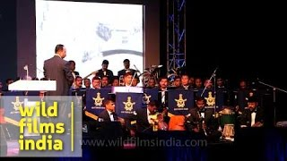 Indian Air Force Band performs during WW 1 Centenary Commemoration