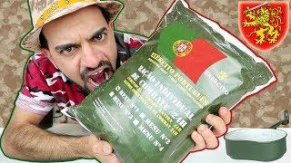 تجربة اكل طعام الجيش البرتغالي 🇵🇹 ماذا يأكل الجندي البرتغالي؟ Portuguese MREs Review & Eating Show